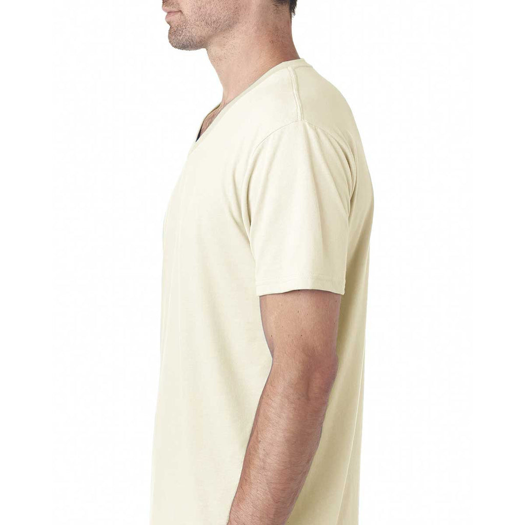 Next Level Men's Natural Premium Fitted Sueded V-Neck Tee