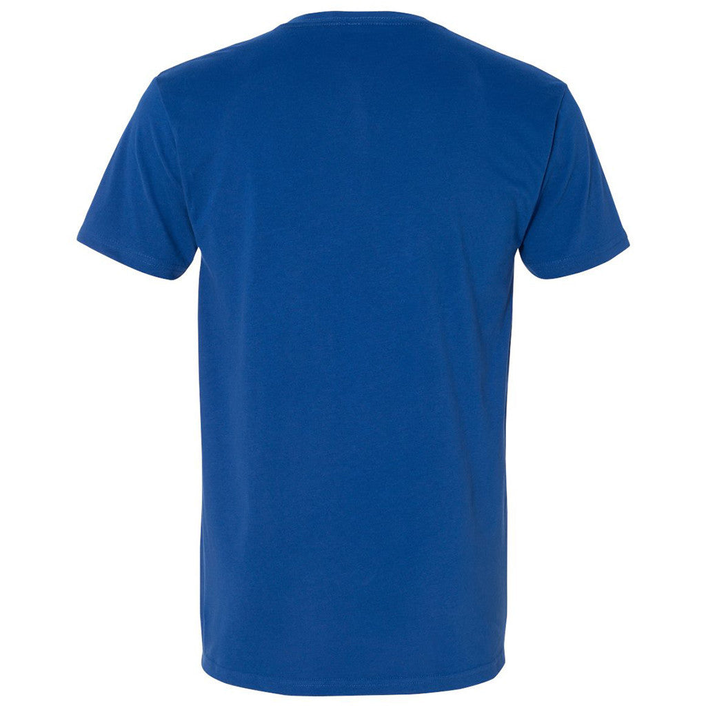 Next Level Men's Royal Premium Fitted Sueded V-Neck Tee