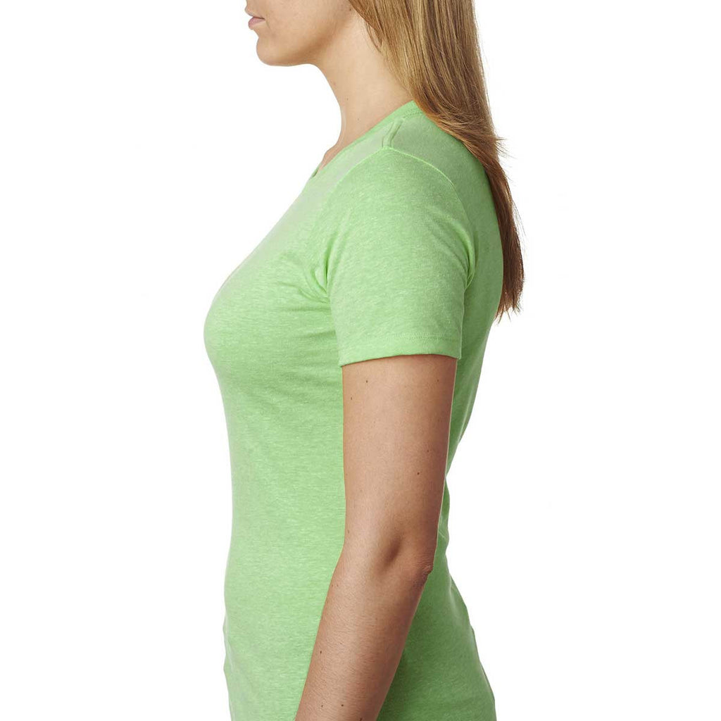 Next Level Women's Apple Green CVC Crew Tee