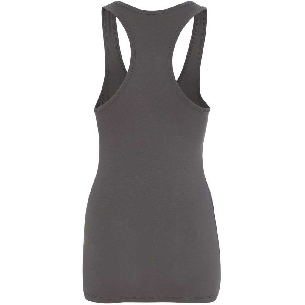 Next Level Women's Dark Gray Jersey Racerback Tank