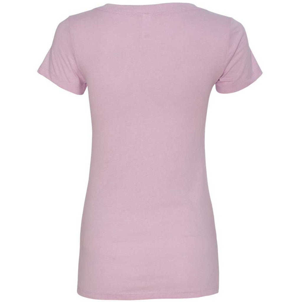 Next Level Women's Lilac CVC Deep V Tee