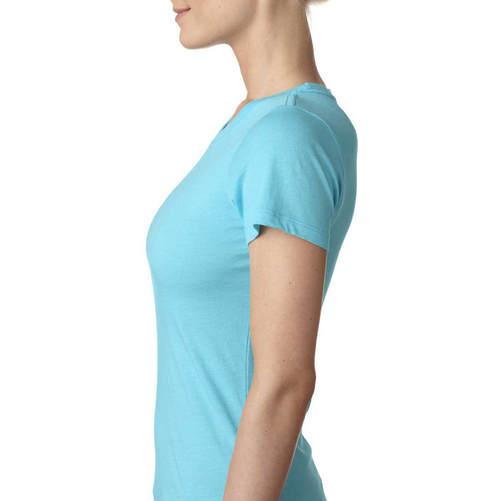 Next Level Women's Tahiti Blue Triblend Crew