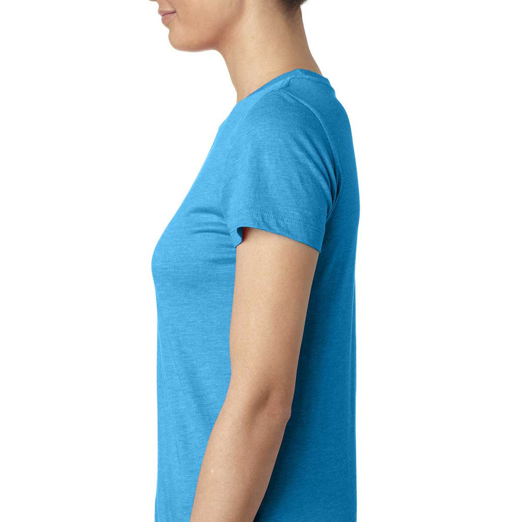 Next Level Women's Vintage Turquoise Triblend Crew