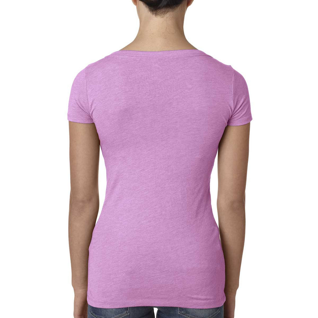 Next Level Women Vintage Lilac Triblend Scoop Tee