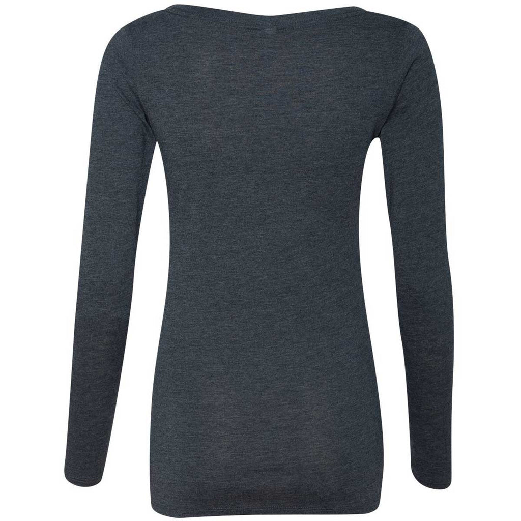 Next Level Women's Vintage Navy Triblend Long-Sleeve Scoop Tee