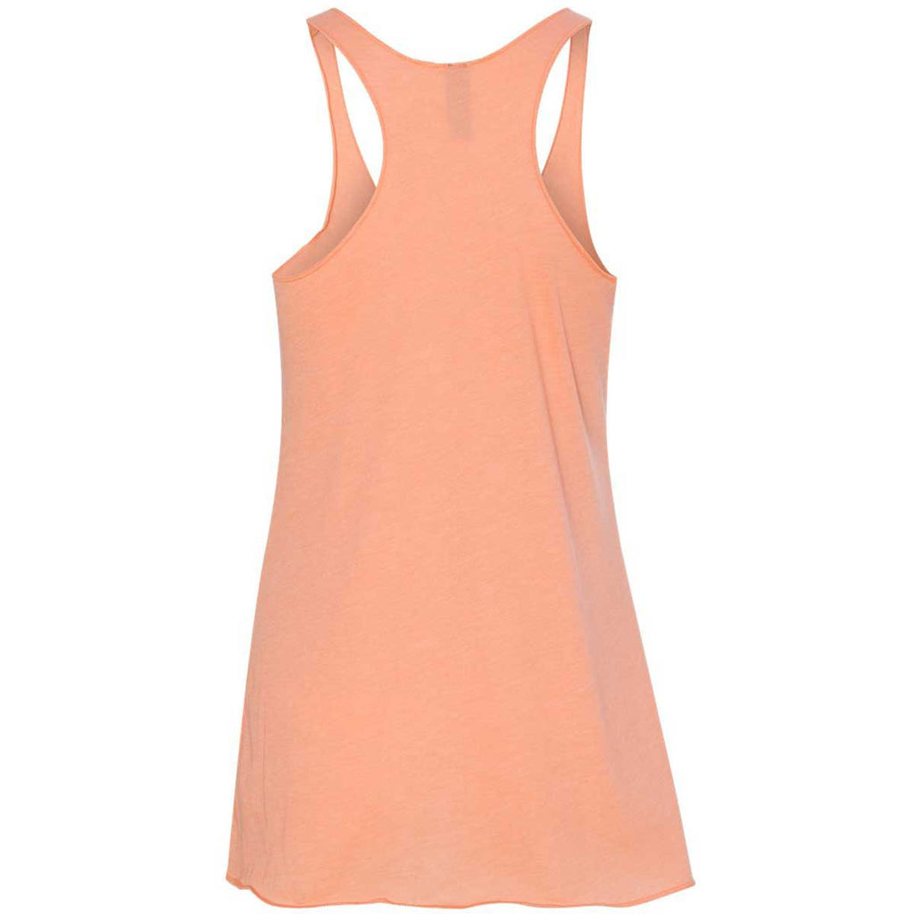 Next Level Women's Vintage Light Orange Triblend Racerback Tank