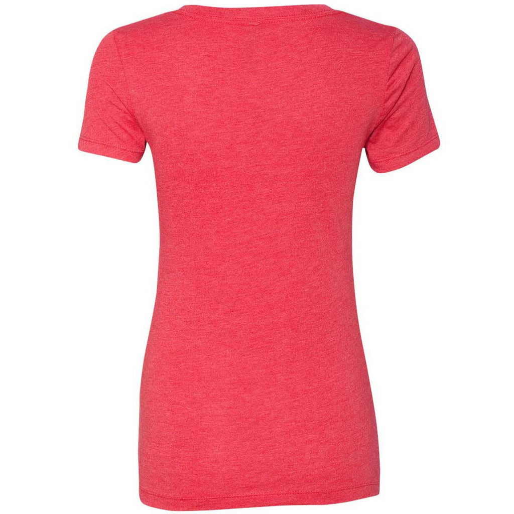 Next Level Women's Vintage Red Triblend Deep-V Tee