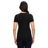 Anvil Women's Black Triblend Scoop Neck T-Shirt