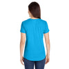 Anvil Women's Heather Caribbean Blue Triblend Scoop Neck T-Shirt