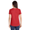 Anvil Women's Heather Red Triblend Scoop Neck T-Shirt