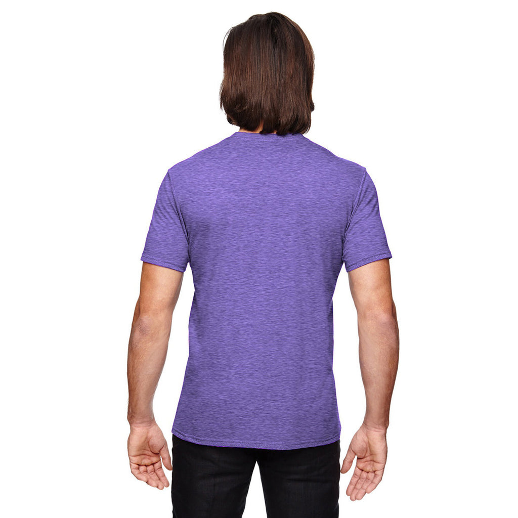 Anvil Men's Heather Purple Triblend T-Shirt