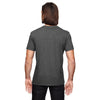 Anvil Men's Heather Dark Grey Triblend V-Neck T-Shirt