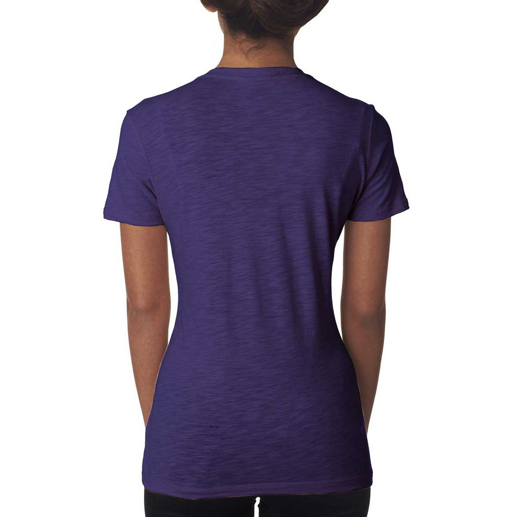 Next Level Women's Purple Rush Slub Crew Tee