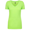 6840-next-level-women-neon-green-tee