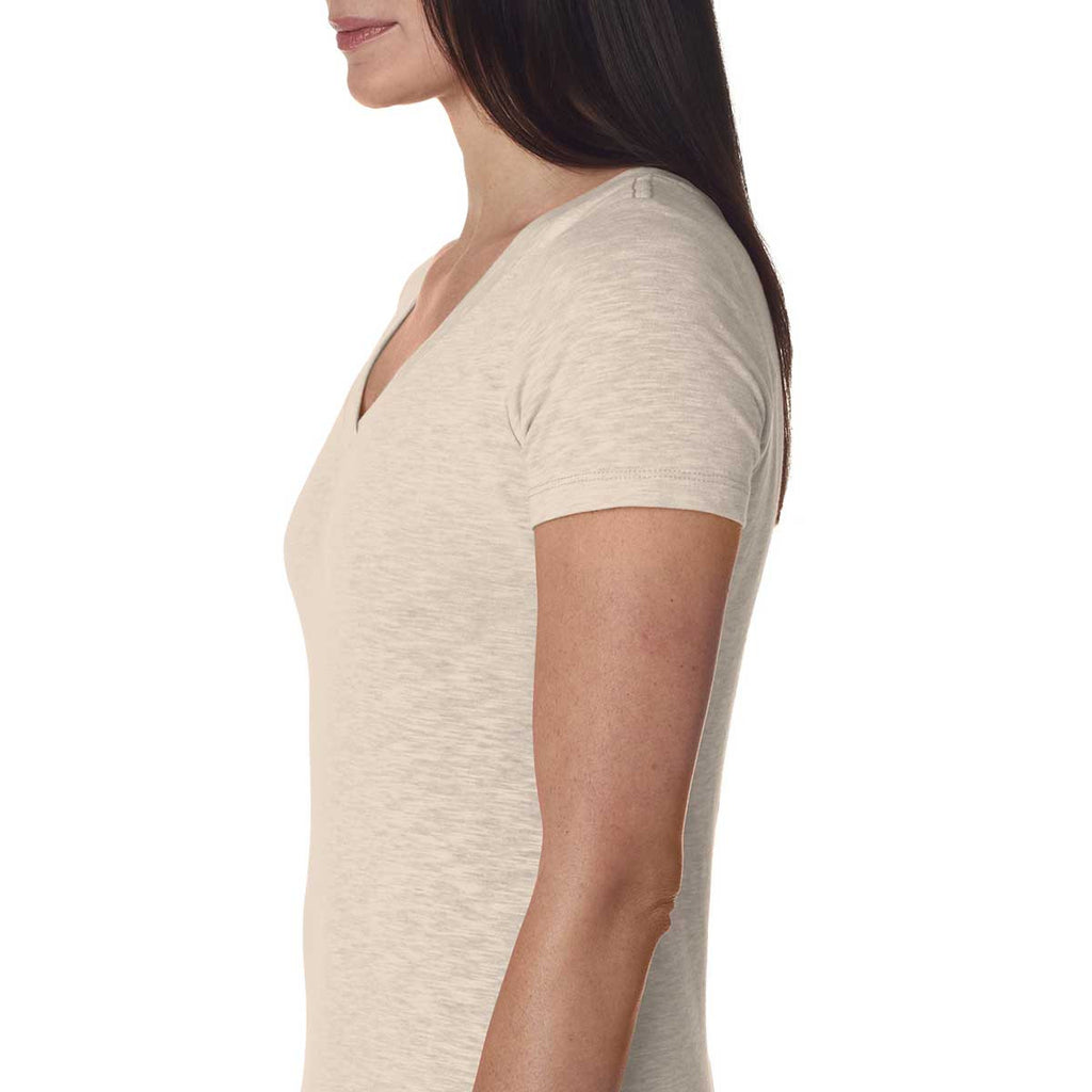 Next Level Women's Peaches N Cream Slub Crossover V-Neck Tee