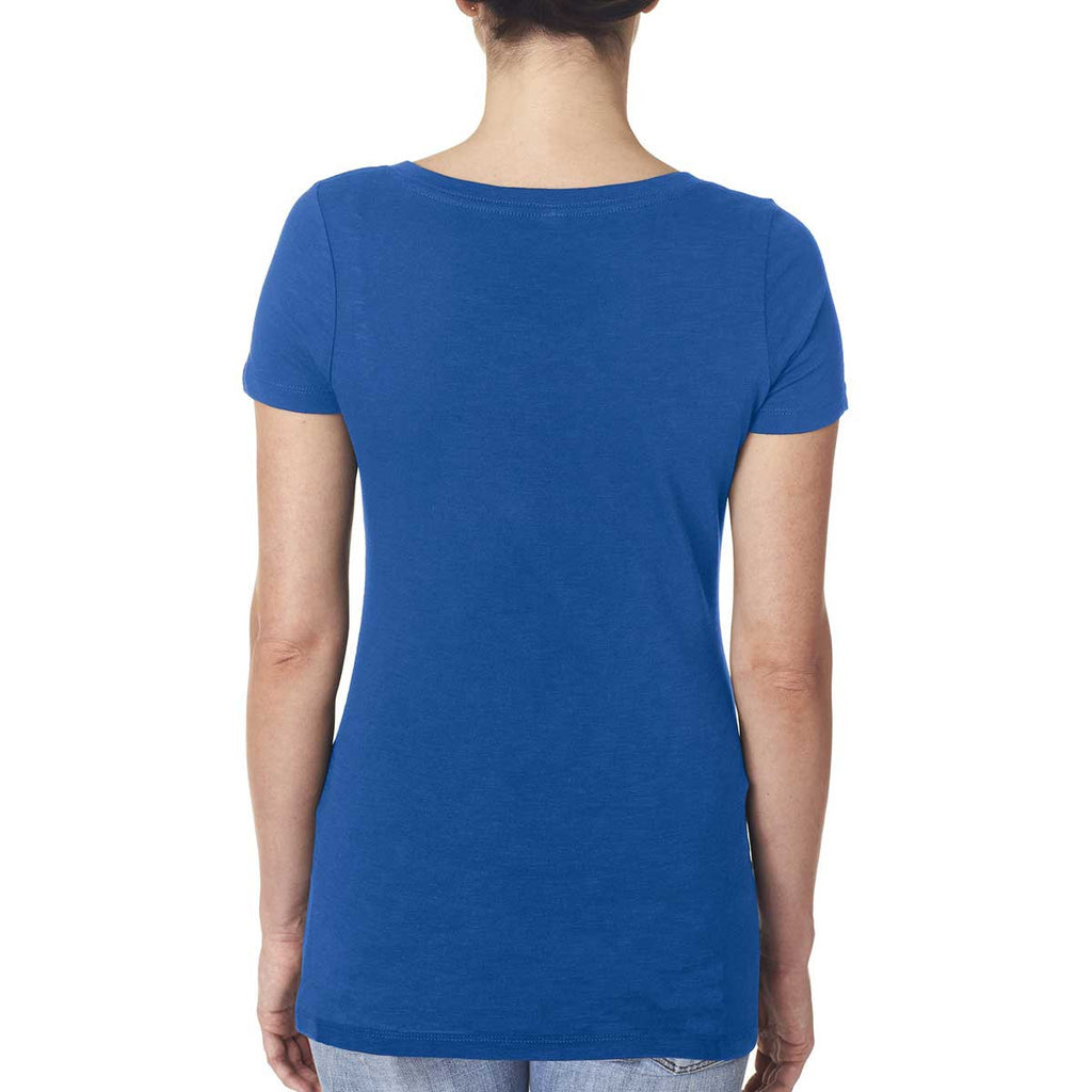 Next Level Women's Royal Slub Crossover V-Neck Tee