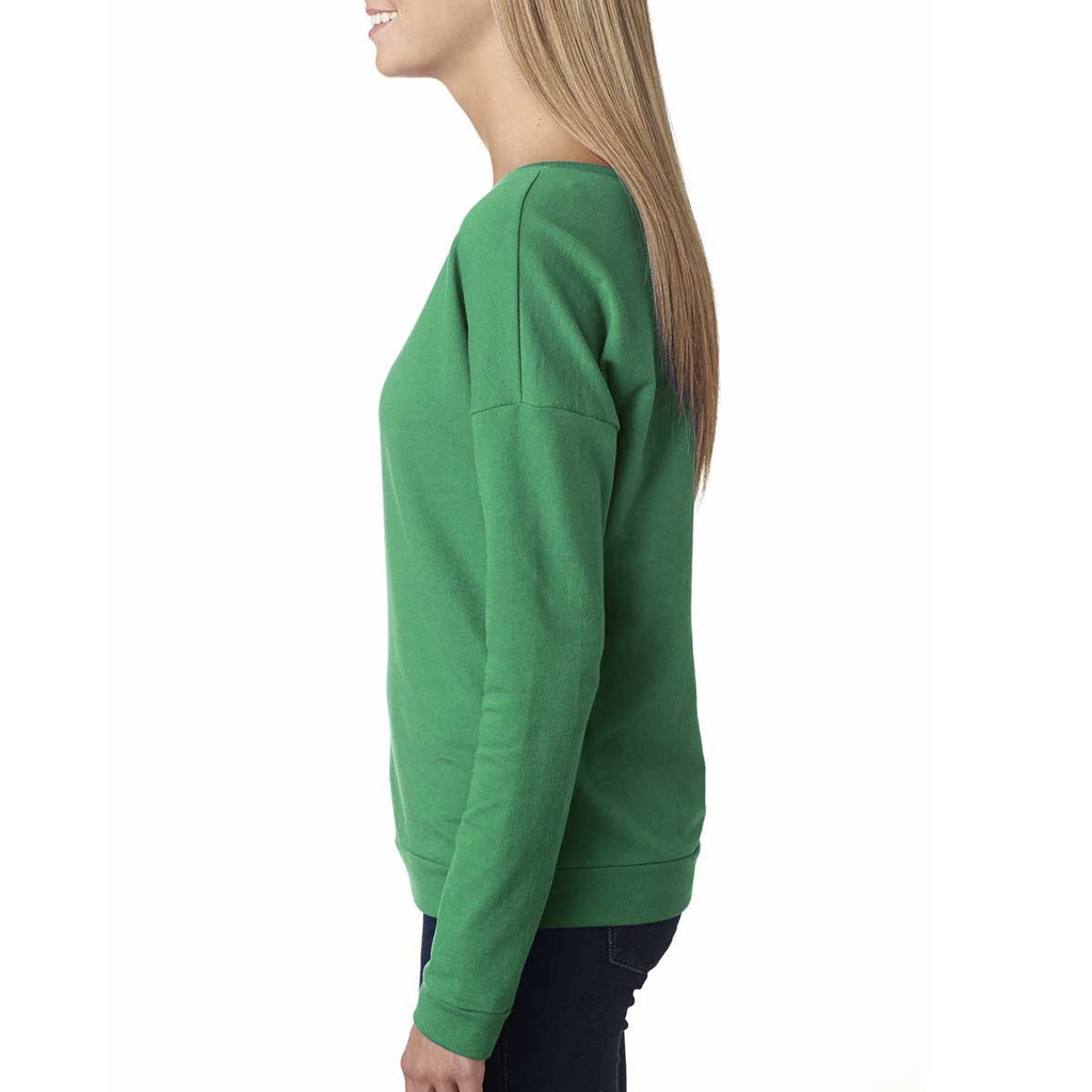 Next Level Women's Envy Terry Long-Sleeve Scoop Tee