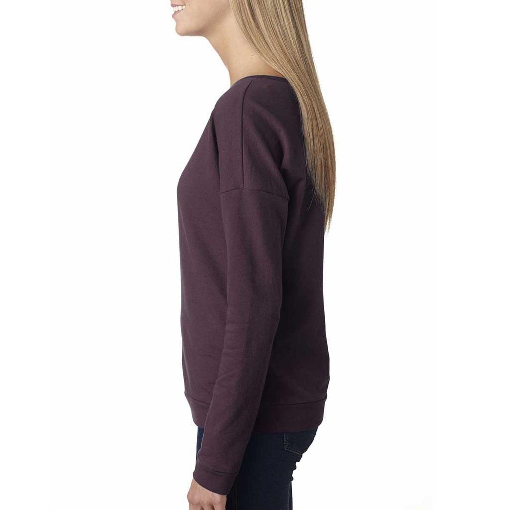 Next Level Women's Plum Terry Long-Sleeve Scoop Tee