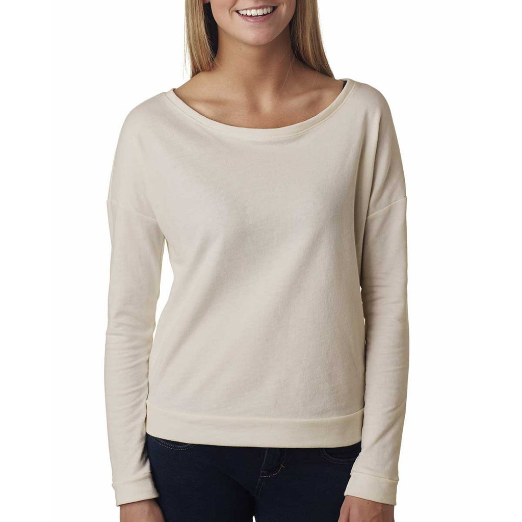 Next Level Women's Sand Terry Long-Sleeve Scoop Tee