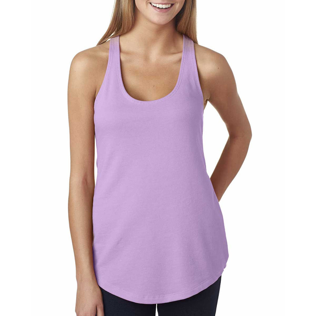 Next Level Women's Lilac Terry Racerback Tank