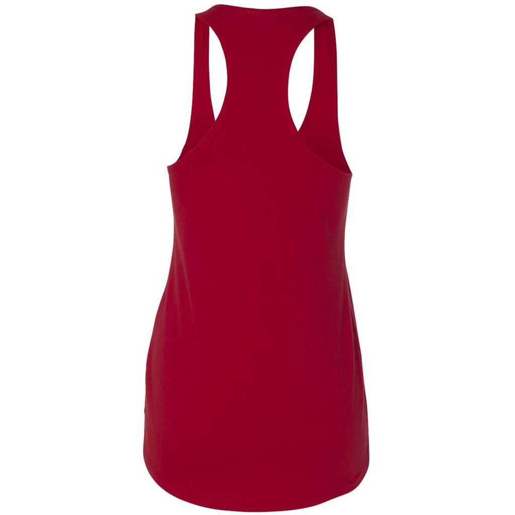 Next Level Women's Red Terry Racerback Tank