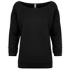6951-next-level-women-black-tee