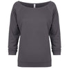 6951-next-level-women-dark-grey-tee