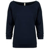6951-next-level-women-navy-tee