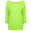 6951-next-level-women-neon-green-tee
