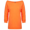 6951-next-level-women-neon-orange-tee