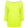 6951-next-level-women-neon-yellow-tee