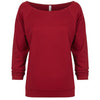 6951-next-level-women-cardinal-tee