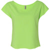 6960-next-level-women-neon-green-tee