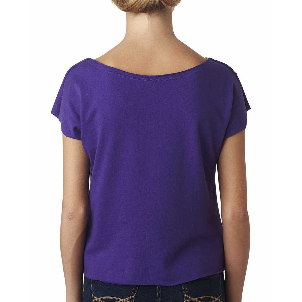 Next Level Women's Purple Rush Terry Dolman Tee