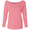 6951-next-level-women-neon-pink-tee