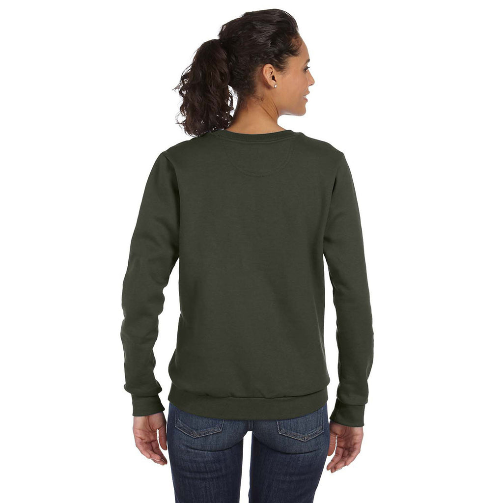 Anvil Women's City Green Crewneck Fleece Sweatshirt