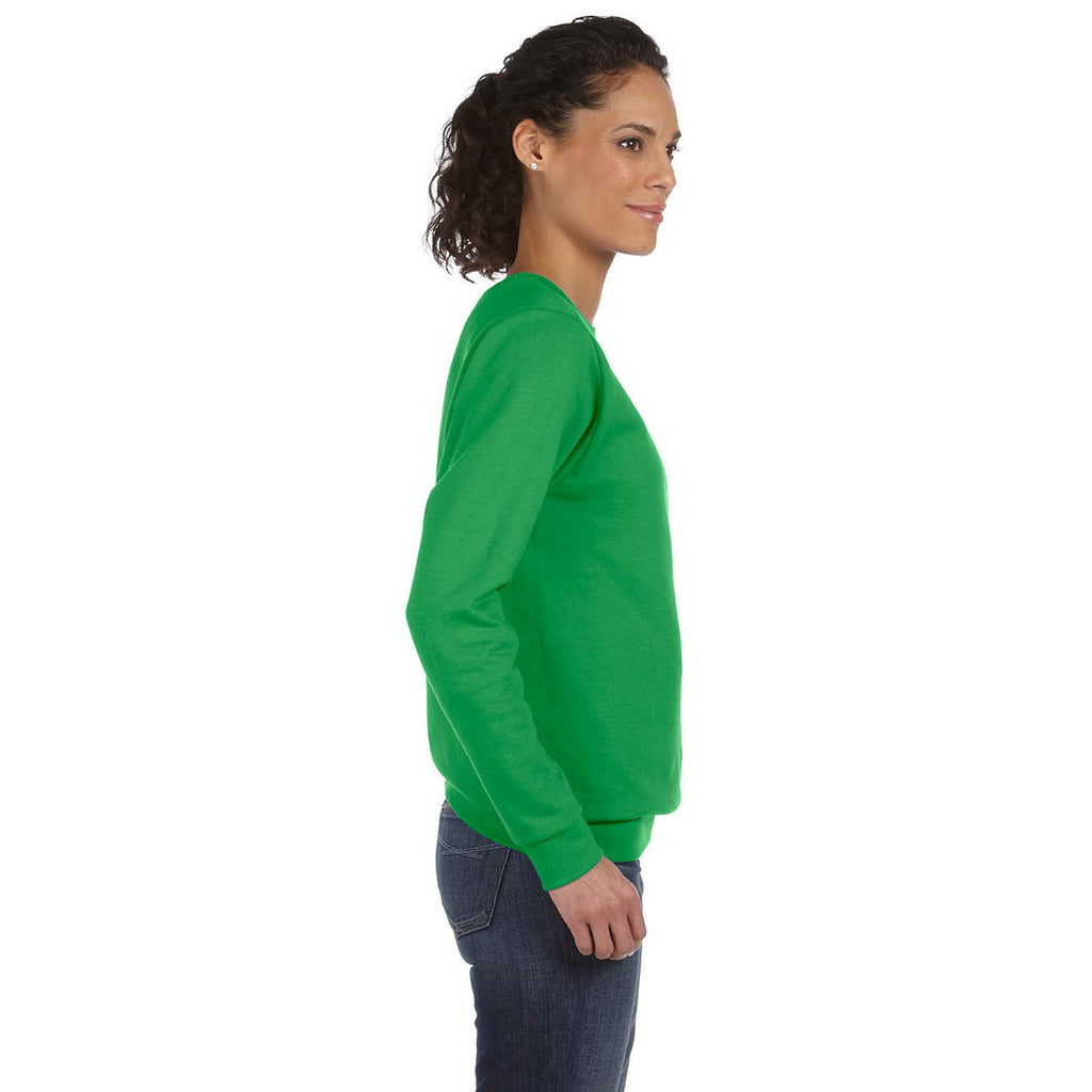Anvil Women's Green Apple Crewneck Fleece Sweatshirt