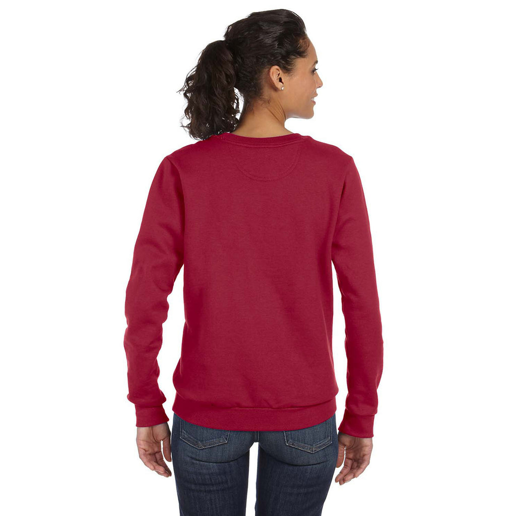 Anvil Women's Independence Red Crewneck Fleece Sweatshirt