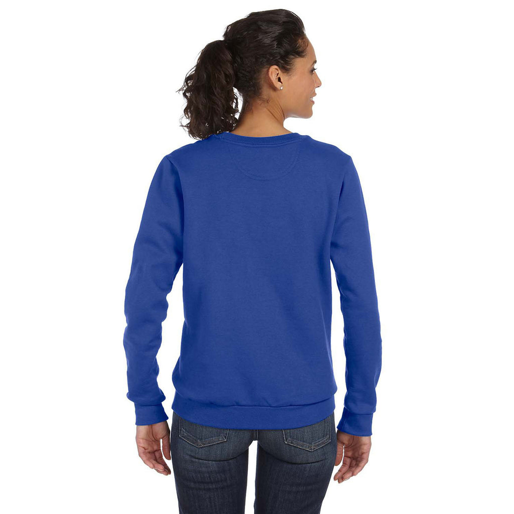 Anvil Women's Royal Blue Crewneck Fleece Sweatshirt