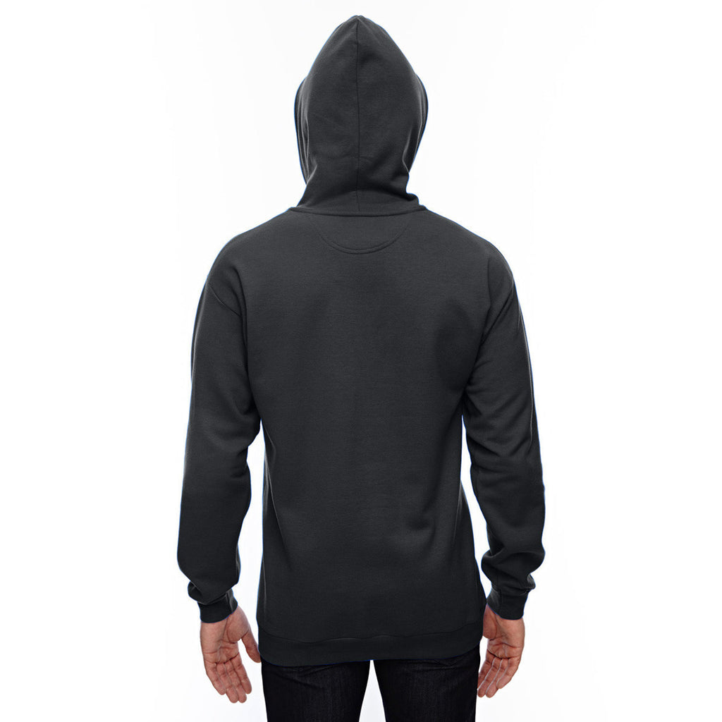 Anvil Men's Black Pullover Hooded Fleece Sweatshirt