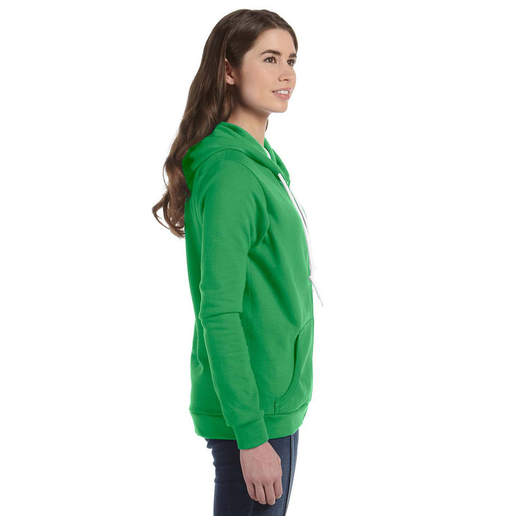Anvil Women's Green Apple Full-Zip Hooded Fleece