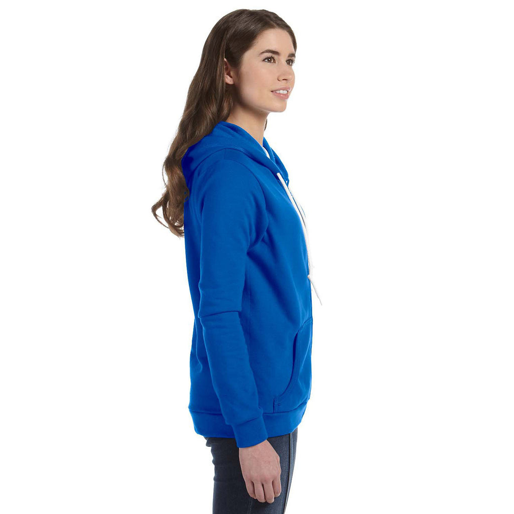 Anvil Women's Royal Blue Full-Zip Hooded Fleece