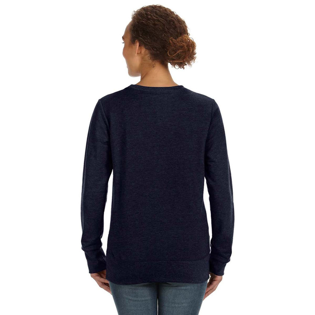 Anvil Women's Navy Mid-Scoop French Terry Sweatshirt