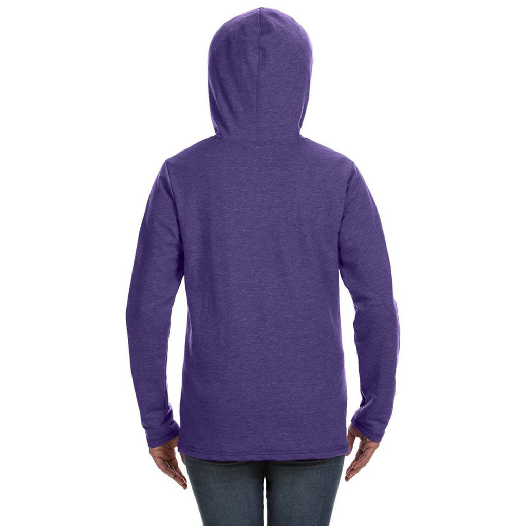 Anvil Women's Heather Purple Hooded French Terry Sweatshirt