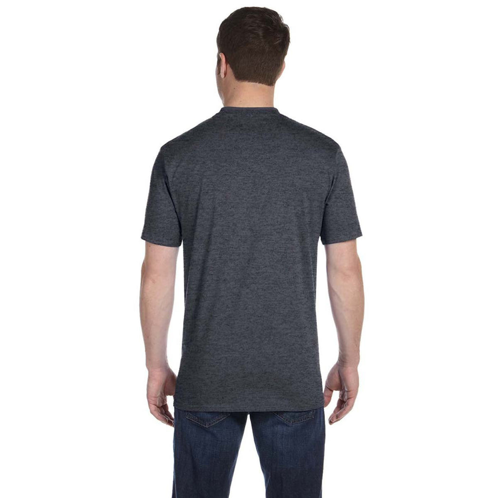 Anvil Men's Heather Dark Grey Midweight T-Shirt