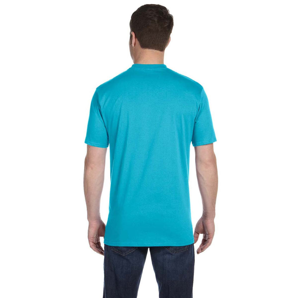 Anvil Men's Pool Blue Midweight T-Shirt
