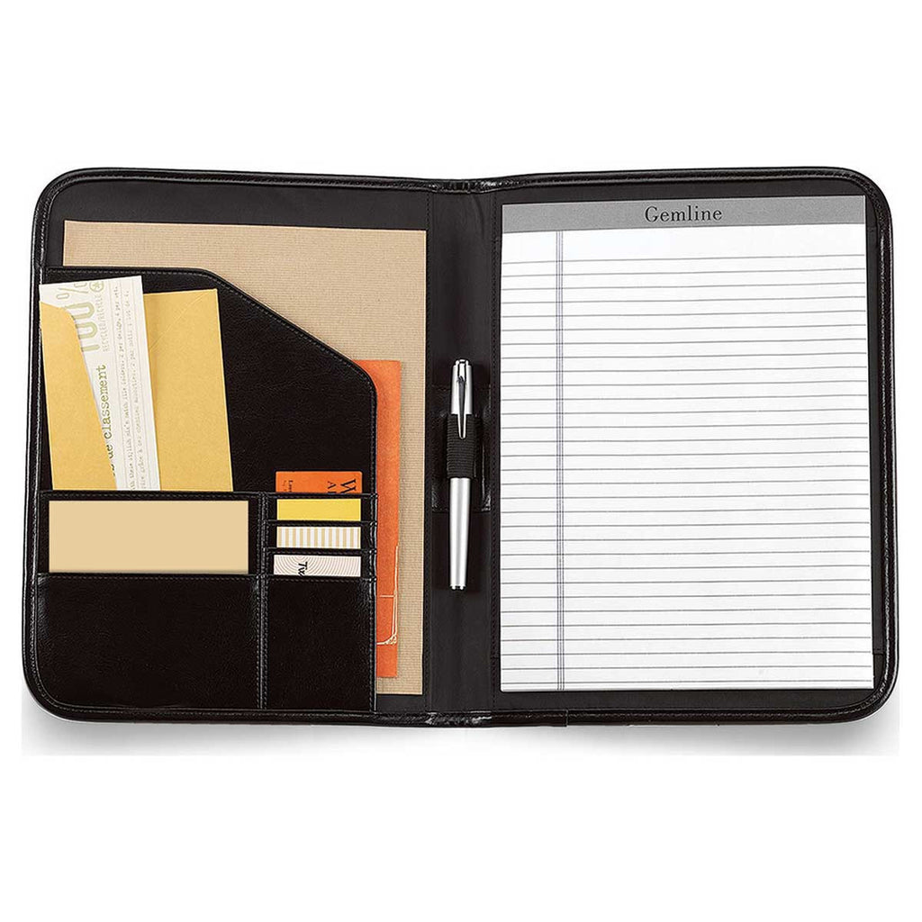 Gemline Black Contemporary Leather Writing Pad