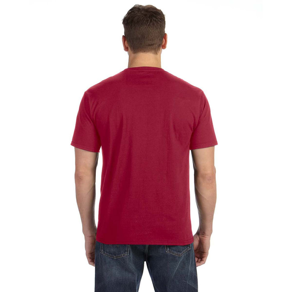 Anvil Men's Independence Red Midweight Pocket T-Shirt