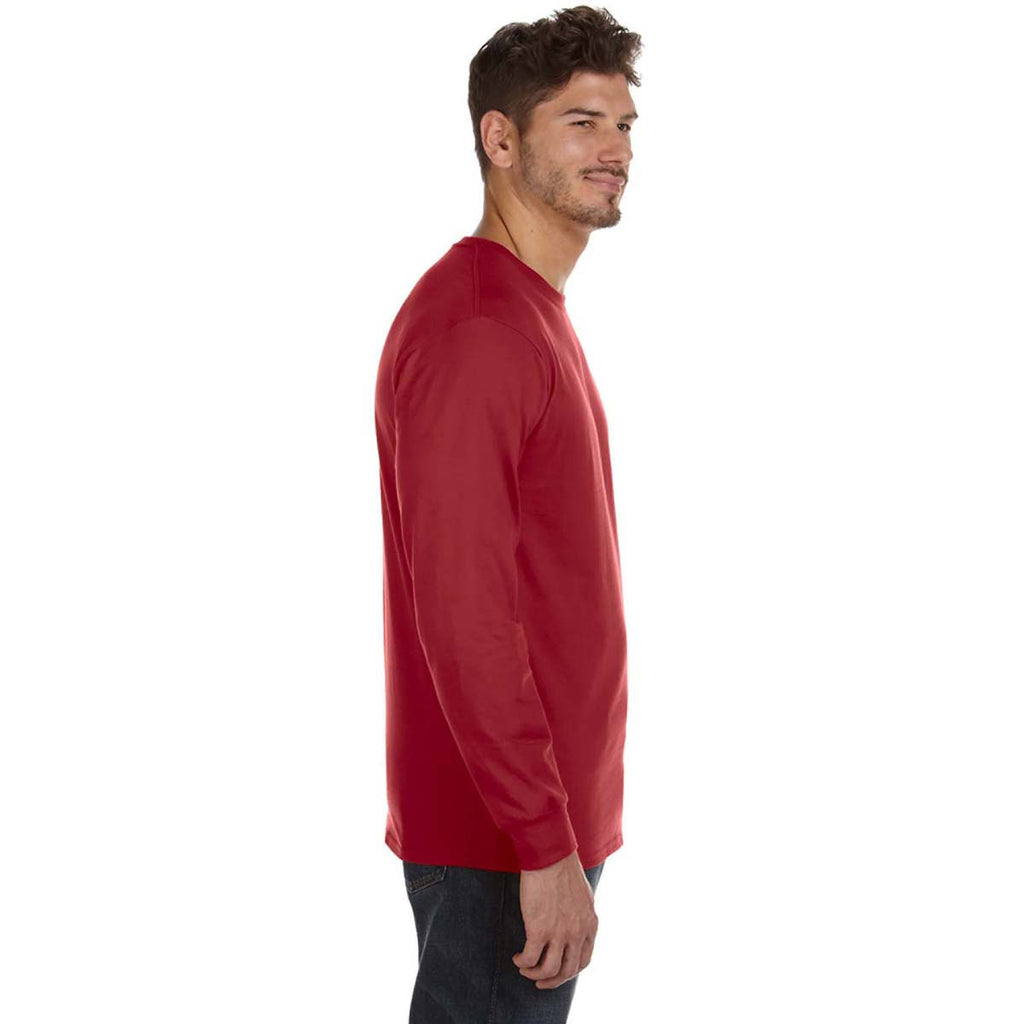 Anvil Men's Independence Red Midweight Long-Sleeve T-Shirt