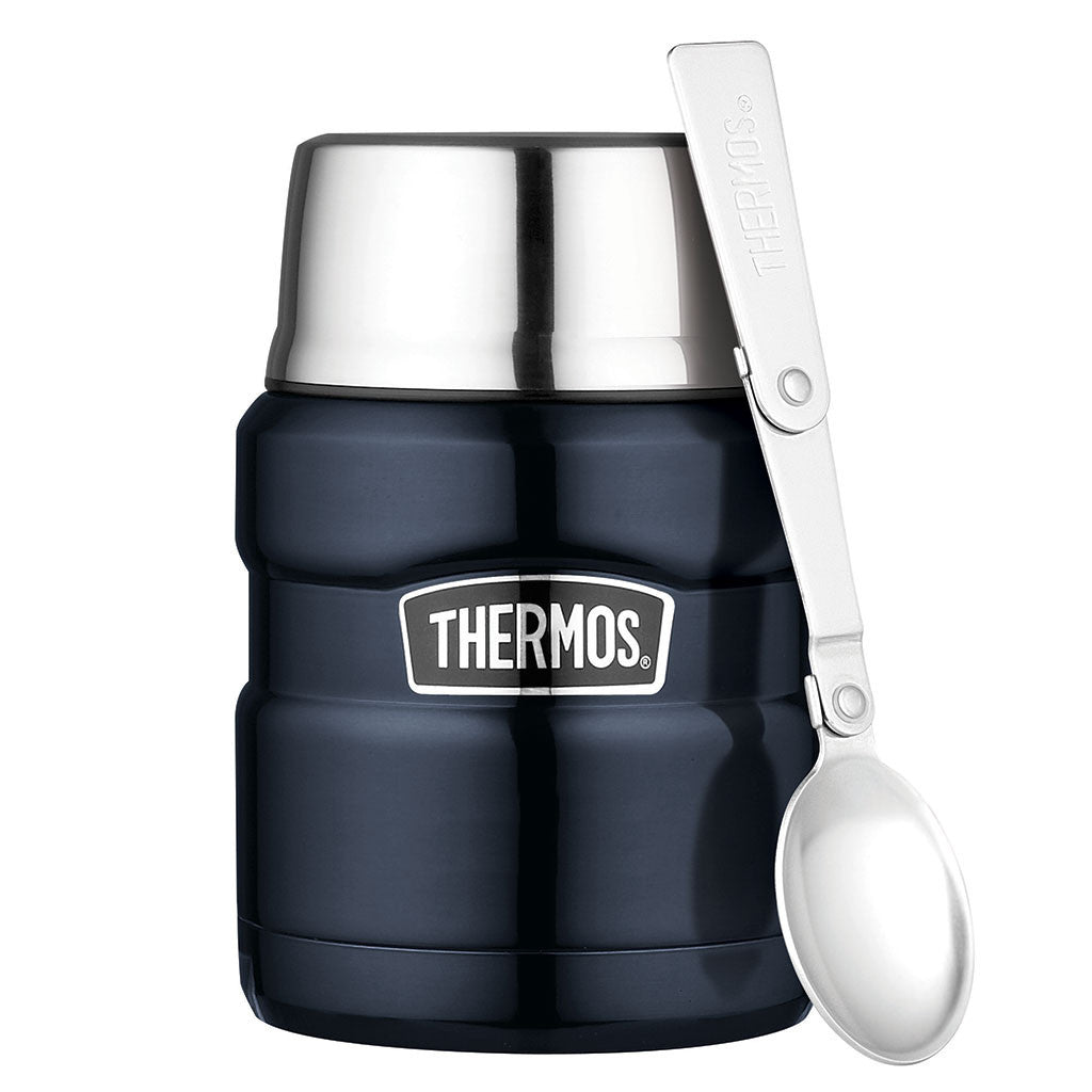 Thermos Midnight Blue Stainless King Food Jar with Spoon – 16 oz.